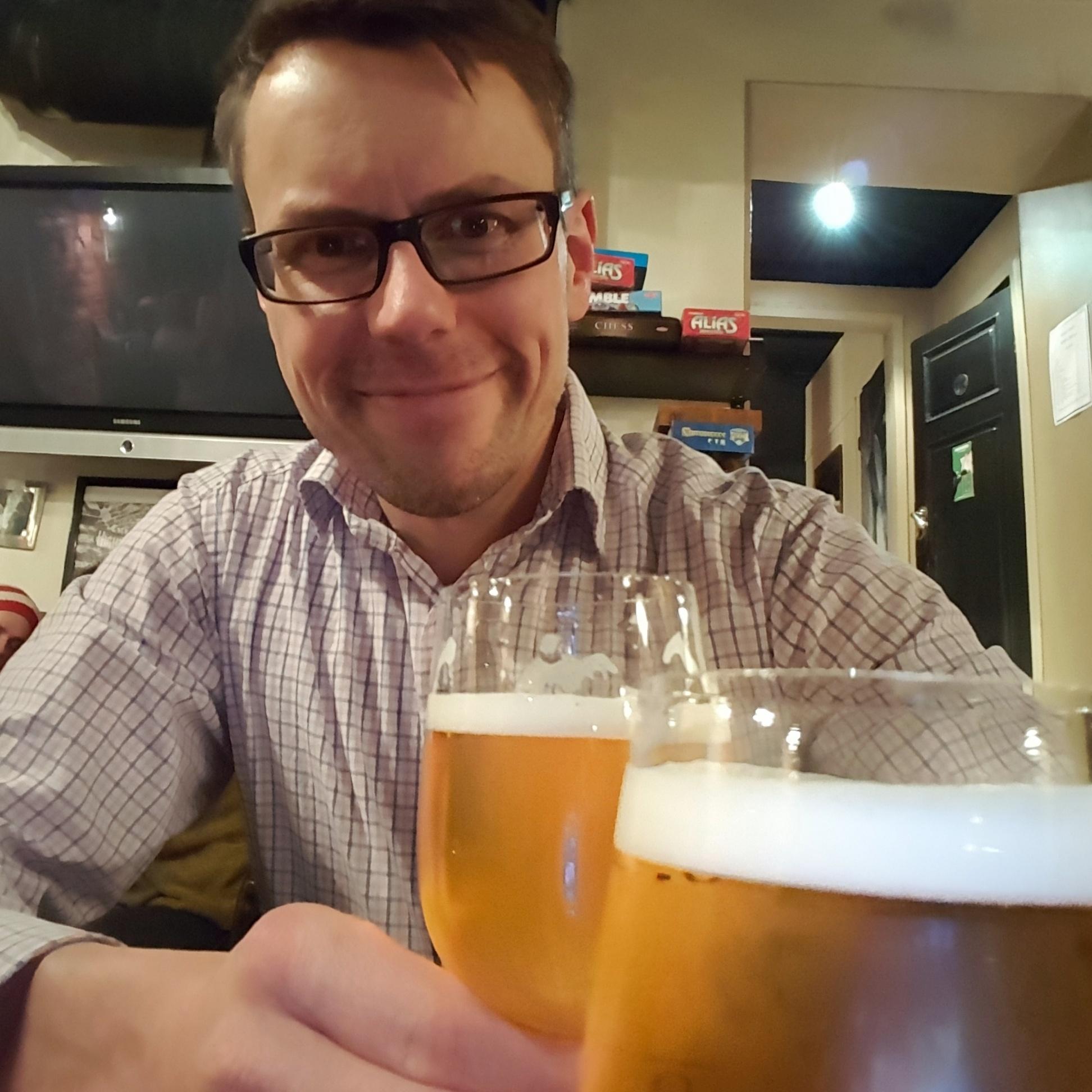 Juha oluella Lahnassa