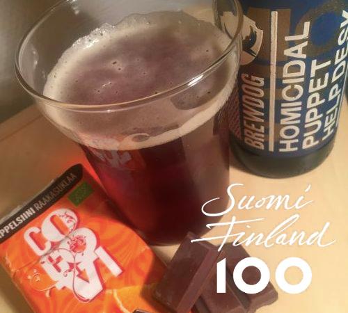 Brewdog Homicidal Puppet Helpdesk ja Suomi 100 itsenäisyyspäivä