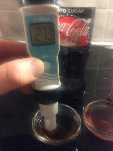 pH-mittaus, Coca-Cola