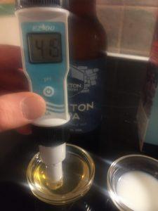 pH-mittaus, Buxton Pale Ale