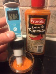 pH-mittaus, brasilialaista chilikastiketta