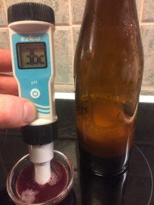 pH-mittaus, vehnämustikkaolut