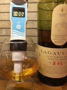 pH-mittaus, Lagavulin whisky
