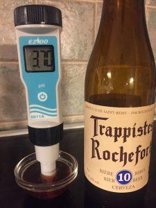 pH-mittaus, Trappistes Rochefort 10