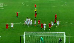 Ronaldo scores, POR-ESP 3-3