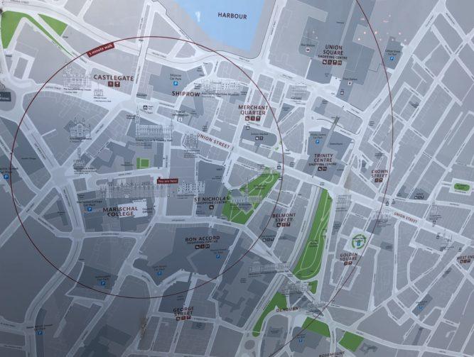 Aberdeen keskustakartta