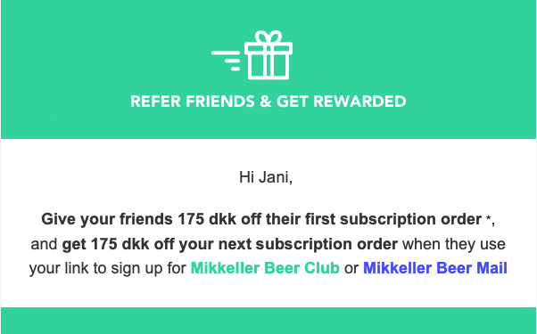 Mikkeller refer friend discount